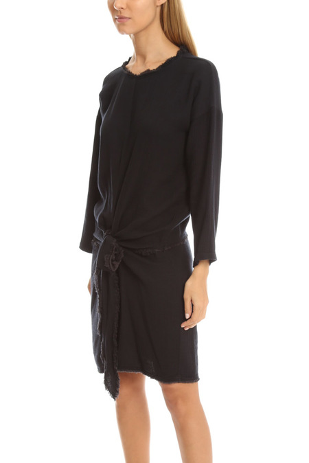 Masscob Tie Front Dress - Delave