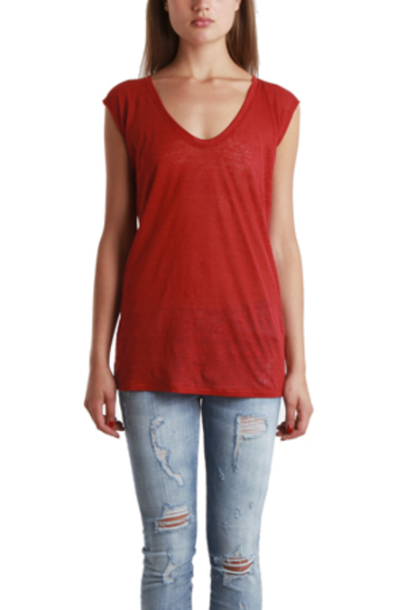 Giada Forte Scoop Neck T-Shirt - Ruby
