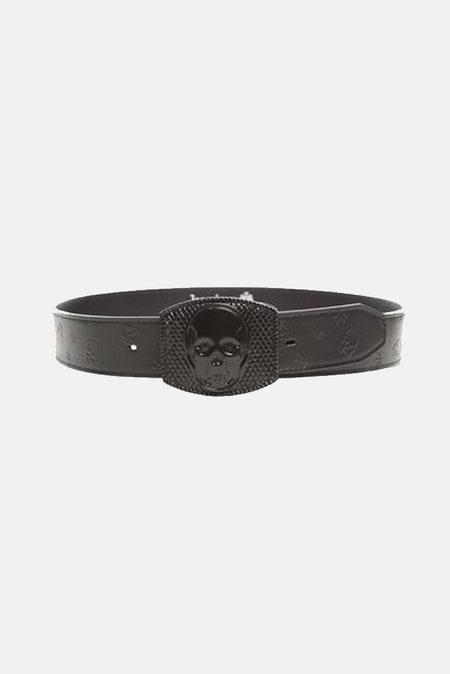 Lucien Pellat-Finet Skull Buckle Belt - Black