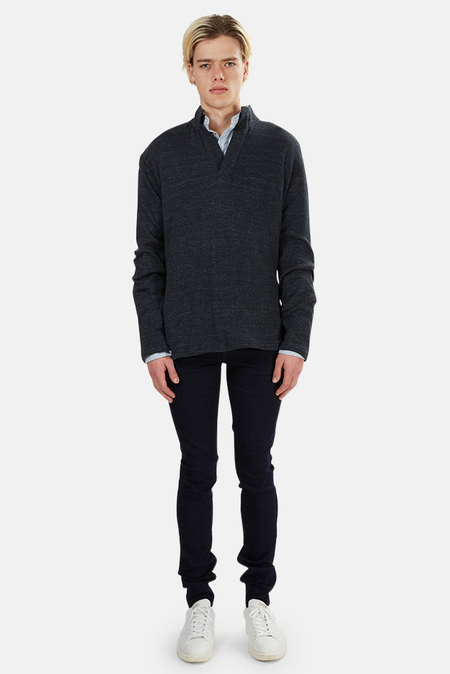 Blue&Cream Pop Pullover Sweater - Navy