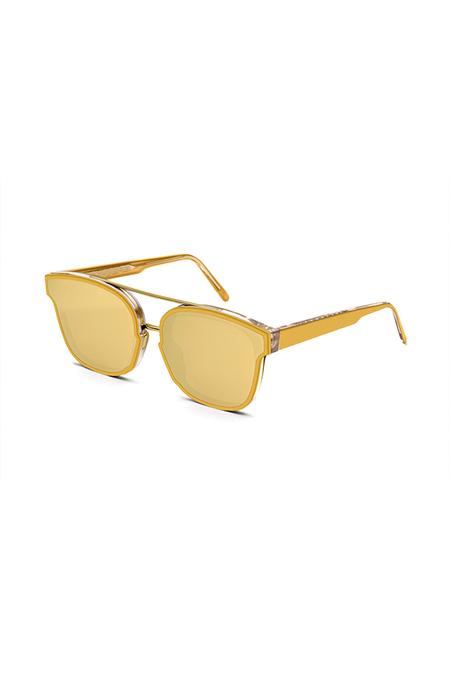 RetroSuperFuture Akin Forma Sunglasses - Gold