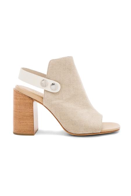 Rag & Bone Leigh High-Heel Sandal Shoes - Natural Canvas