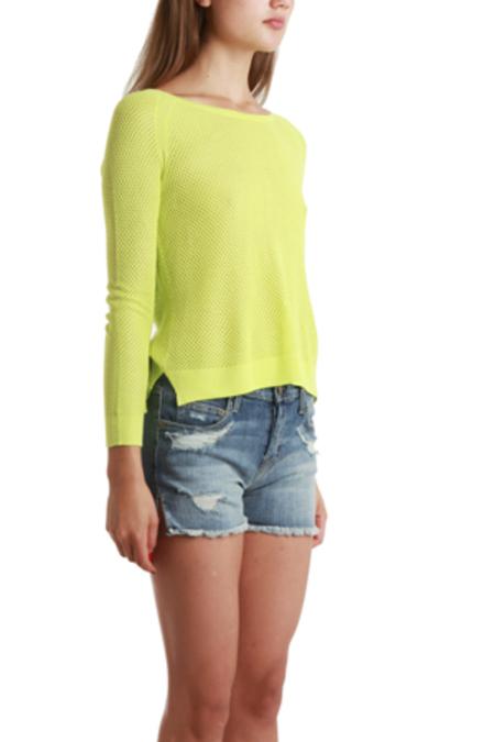 Rag & Bone Island Raglan Pullover Sweater - Fluoro Green