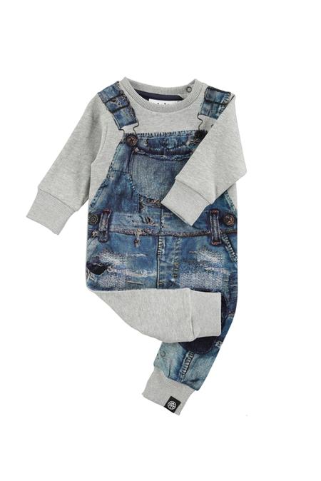 Kids Molo Freddy Bodysuit - 5308 Japanese Denim