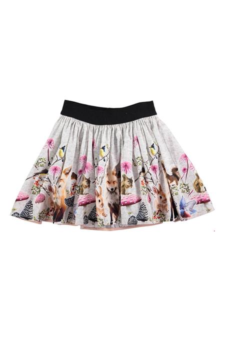 Kids Molo Bonnie Skirt - Little Creatures Border