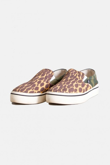 R13 Slip On Sneaker Shoes - Camo And Cheetah