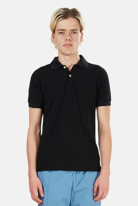 V::ROOM Short Sleeve Pocket Polo Top - Black