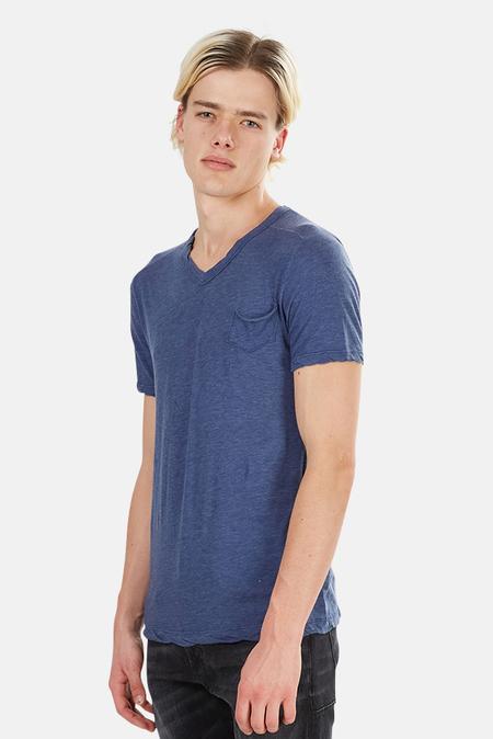 V::ROOM V Neck Pocket T-Shirt - Navy