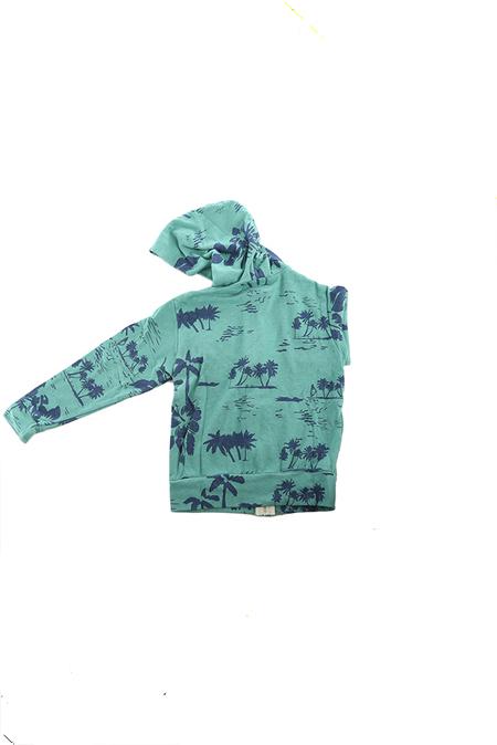 Kids Monrow Zip Hoody -  Green Hawaiian