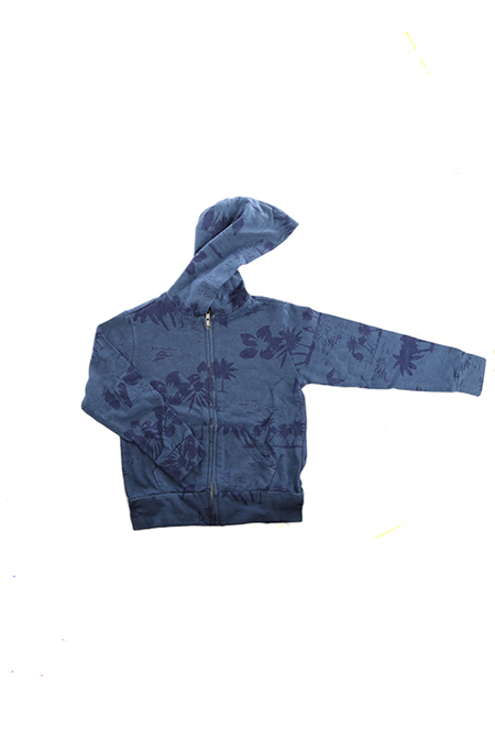 Kids Monrow Zip Hoody - Blue Hawaiian