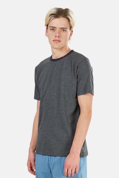 Rag & Bone Contrast Ringer T-Shirt - Mid Grey