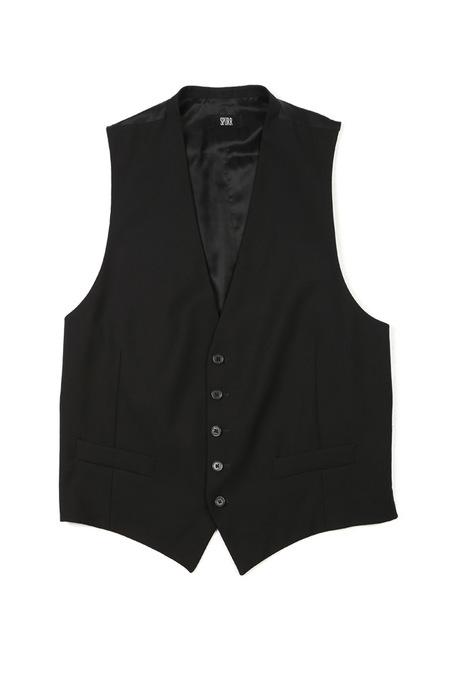 Simon Spurr Plain Vest - Black