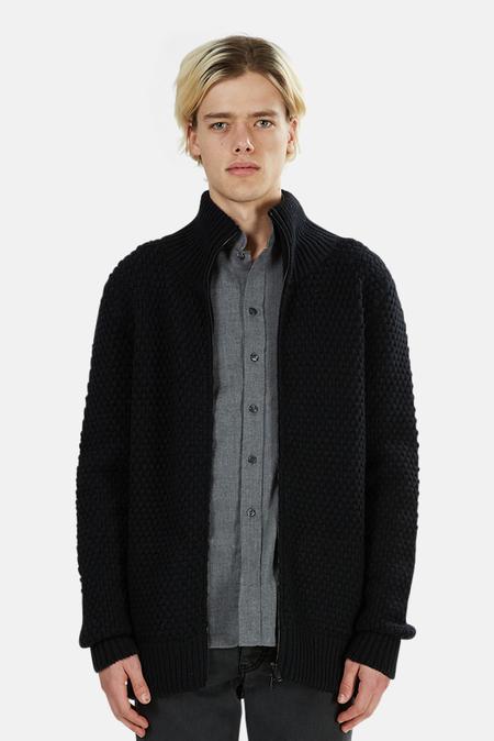 Jardine Zip Cardigan Jacket - Black