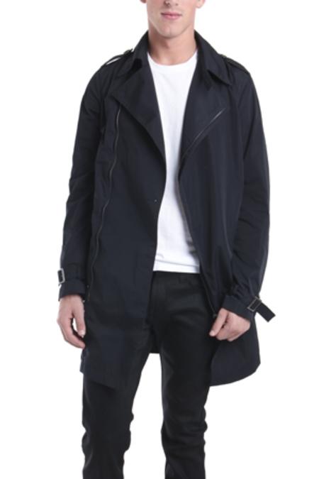Simon Spurr Nylon City Trench Outerwear - Black