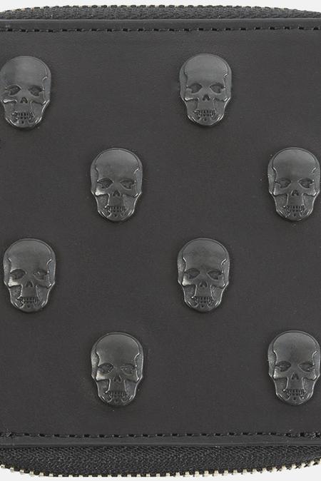 Lucien Pellat-FinetSkull Studs Small Zip Wallet - Black
