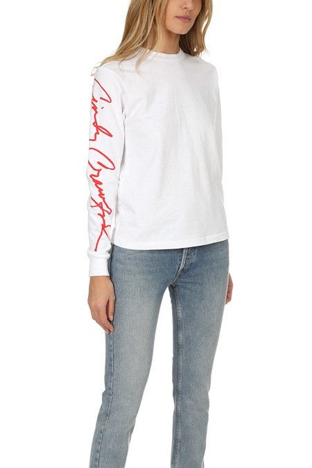 RE/DONE Cindy LS Classic T-Shirt - White