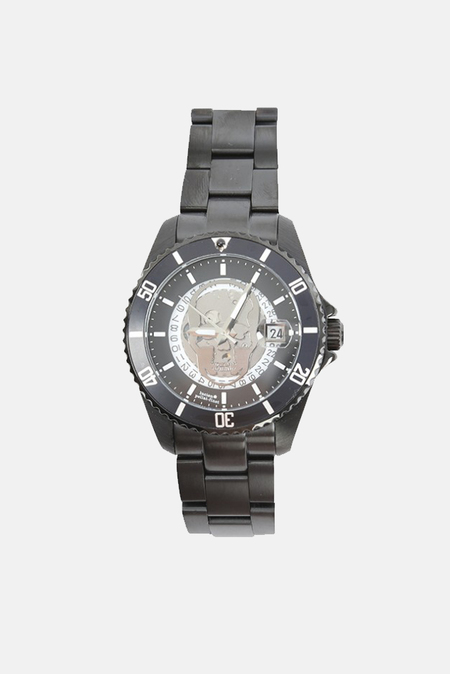 Lucien Pellat-Finet Skull Dial Watch - Black