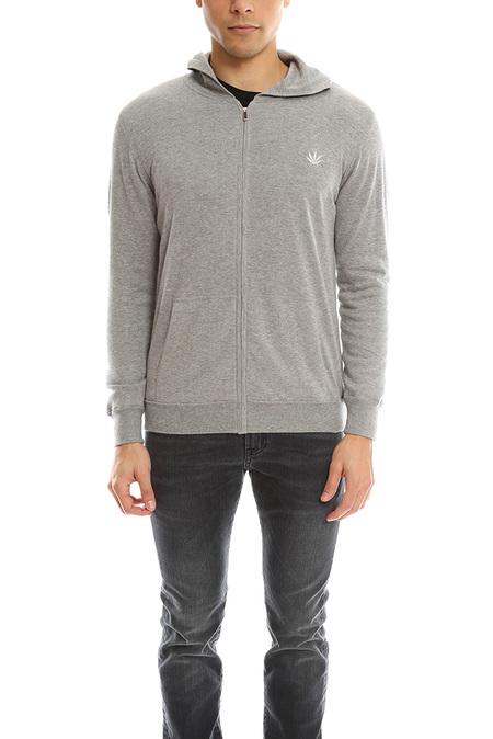 Lucien Pellat-Finet Hood Zip Jacket Leaf Sweater - Grey