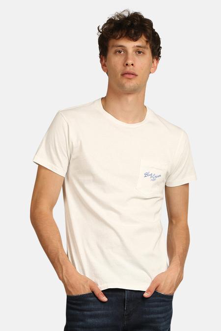 Velva Sheen x Blue&Cream 11937 Pocket T-Shirt - White