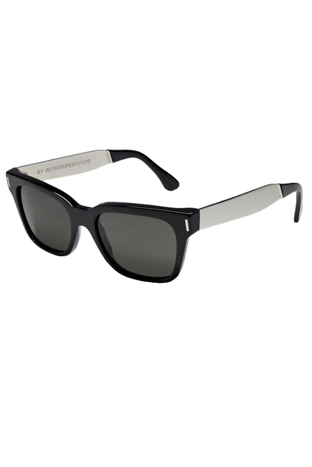 RetroSuperFuture America Francis Sunglasses - Black/Silver
