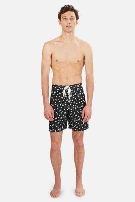 Lucien Pellat-Finet Surfer Short -  Black/White