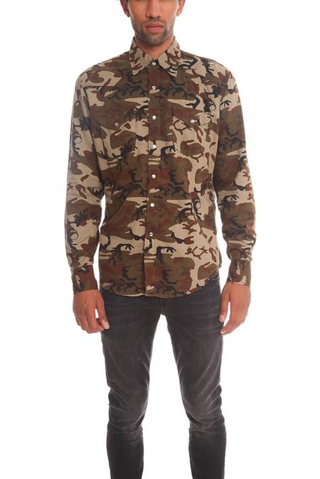 Lucien Pellat-Finet Western Shirt with Leaf - Camo