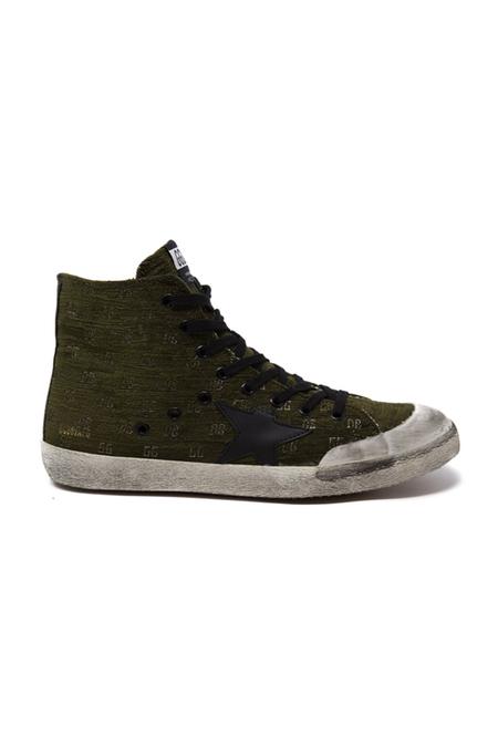 Golden Goose Francy Sneaker Shoes - Olive Velvet