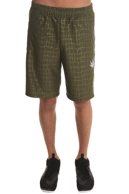 Lucien Pellat-Finet Croc Bermuda Shorts - Olive Croc