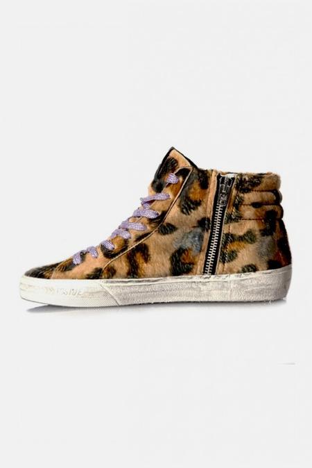Kids Golden Goose Slide Sneaker Shoes - Leopard