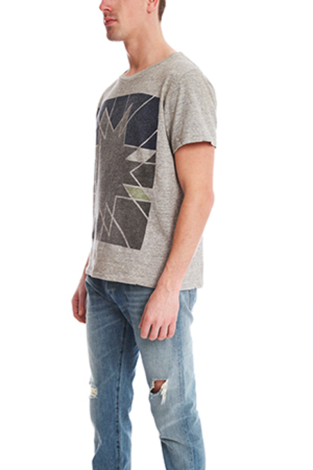 Remi Relief Twist Recycle Morning Star T-Shirt - Heather Grey
