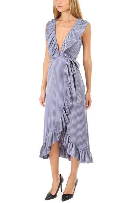MISA Los Angeles Eve Dress - Velvet Stripe