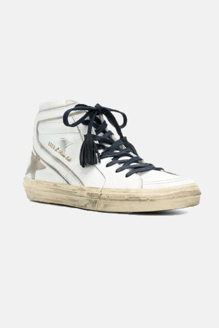 Golden Goose Slide Sneaker Shoes - Santa Fe Flower/White Star