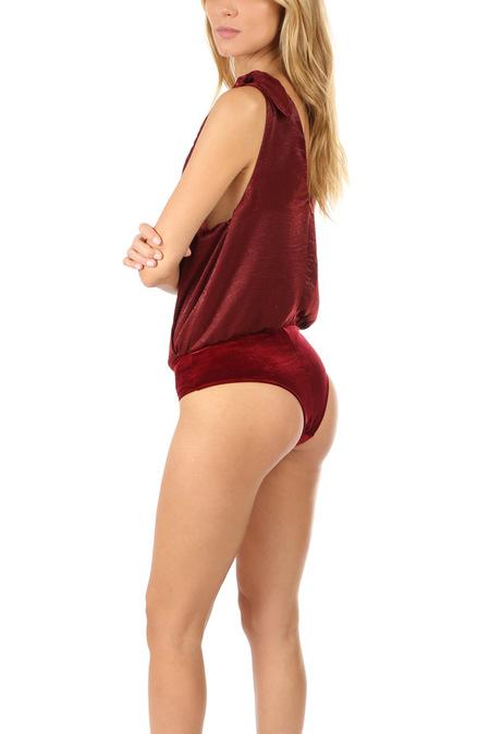 MISA Los Angeles Santos Bodysuit - Wine