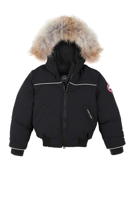 Kids Canada Goose Grizzly Bomber - Black