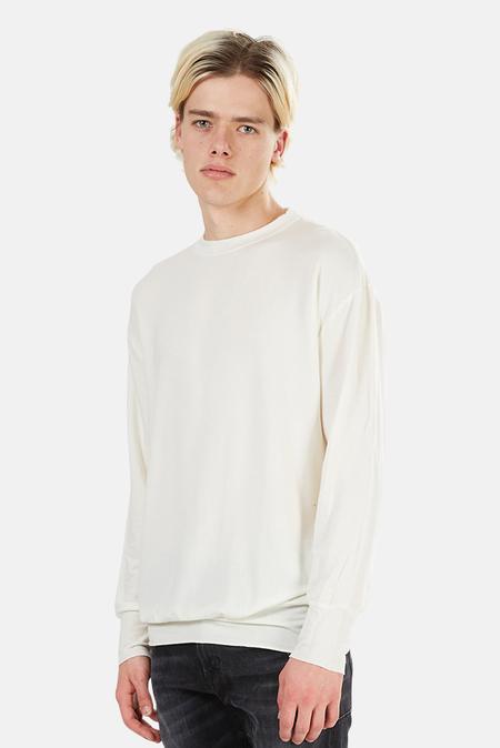 V::Room Tencel Stretch Crewneck Sweatshirt Sweater - White