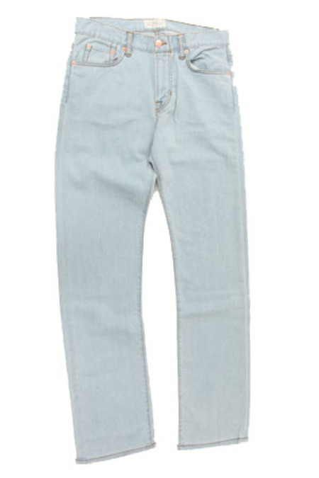 Simon Spurr Pipe Leg 70's Jeans - Light Blue