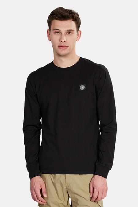 Stone Island Long Sleeve T-Shirt - Black
