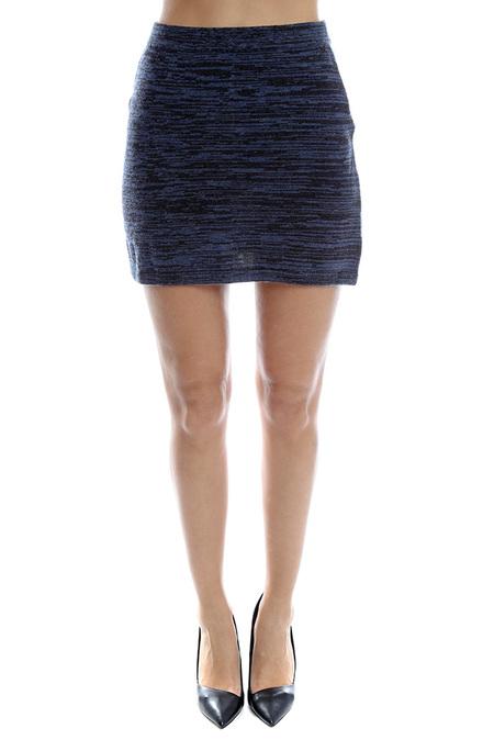 Thakoon Denim Knit Skirt - Navy
