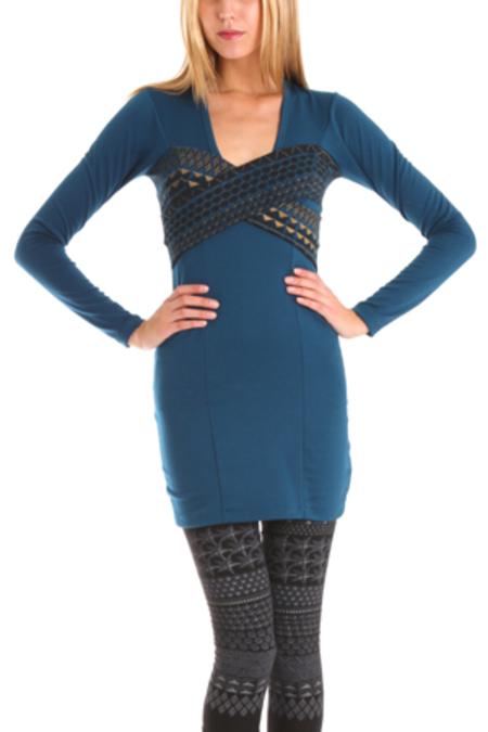Grey Antics X Dress - Blue