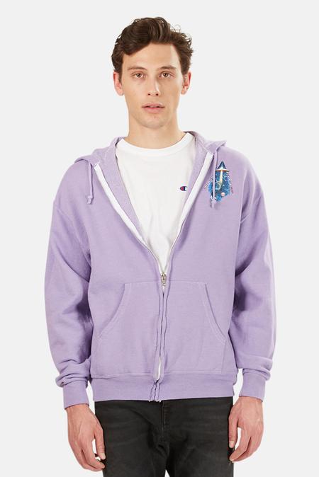 Blue&Cream Cosmic Trip Zip Up Hoodie Sweater - Purple