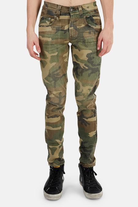 R13 Boy Jeans - Beige camo