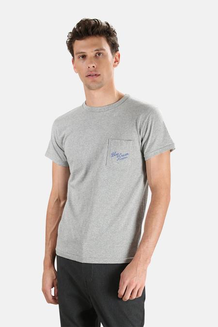 Velva Sheen x Blue&Cream Hamptons Pocket T-Shirt - Grey
