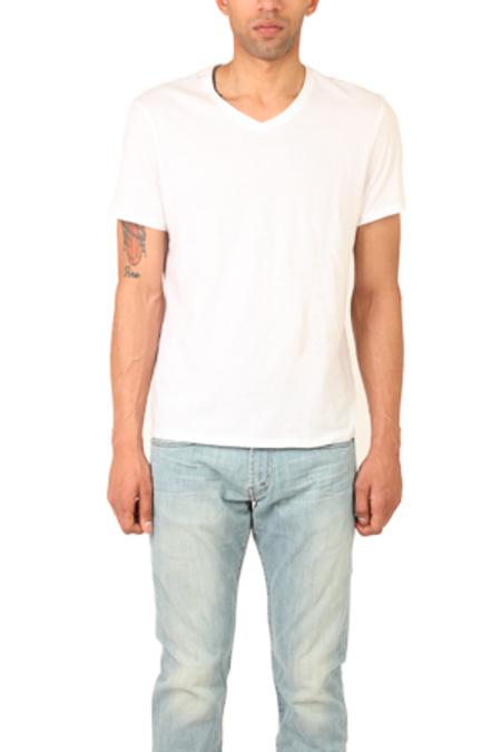 Vince V Neck T-Shirt - White