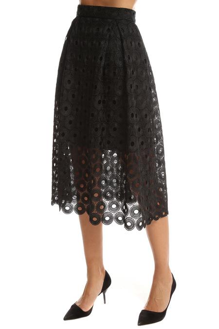 Nicholas Spot Lace Ball Skirt - Black