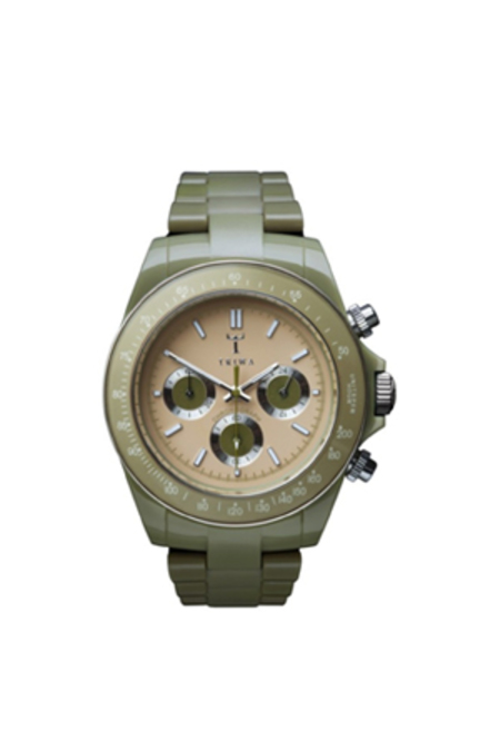 Triwa Khaki Chrono watch - olive Green