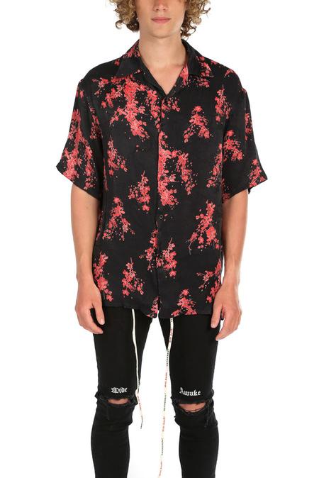 Represent Floral Button Down Top - Black Floral
