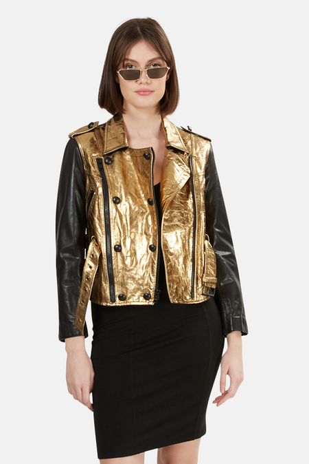 3.1 Phillip Lim Leather Jacket - Gold