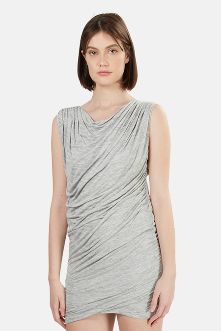 Wayne Ruched Dress - Grey