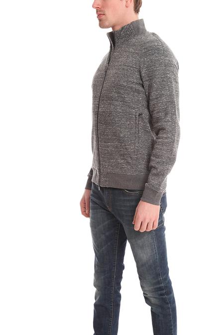 Vince Full Zip Mock Neck Sweatshirt Sweater - dark Grey