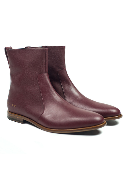 Robert Geller x Common Projects Leather Chelsea Boot Shoes - Oxblood